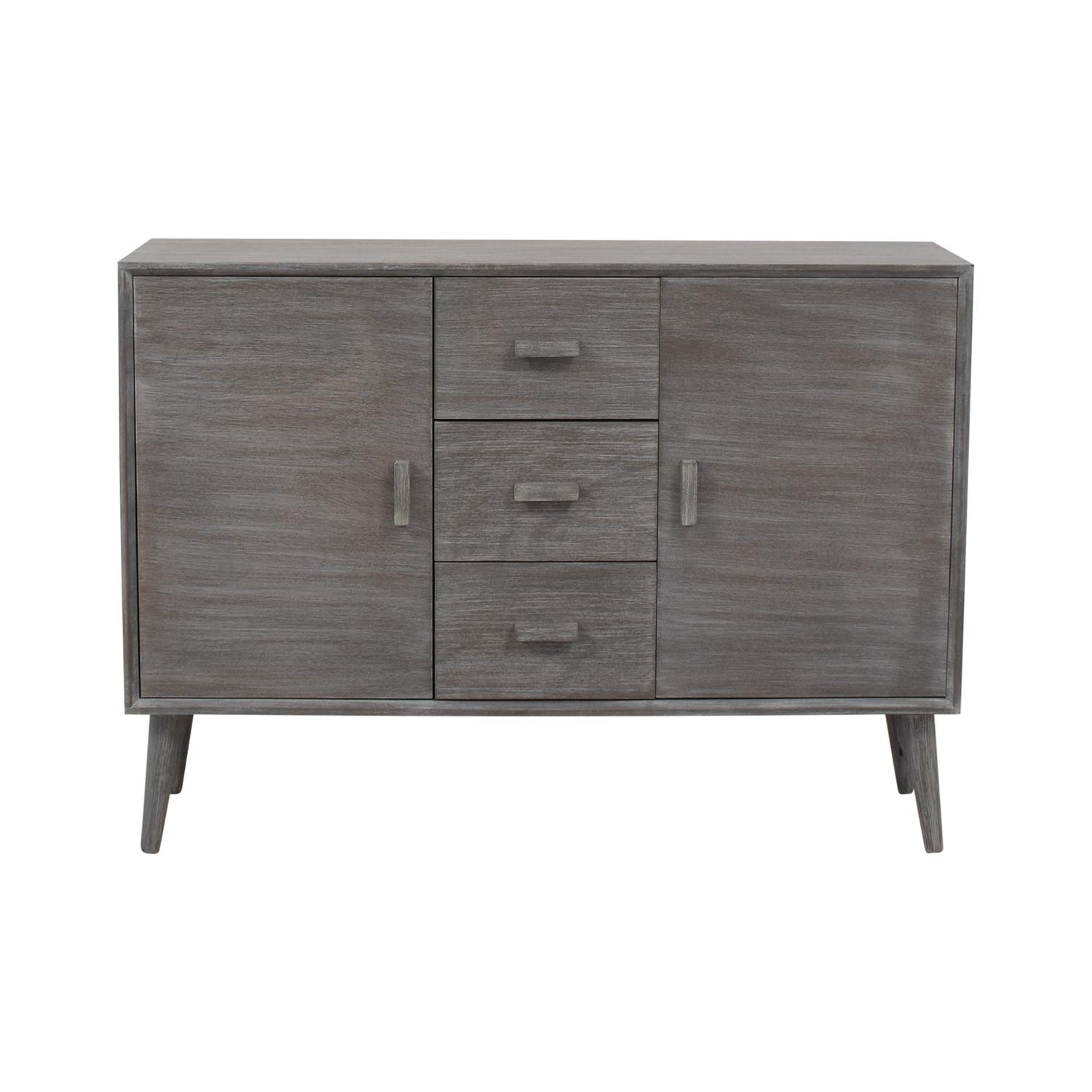 Grey Cabinet with Three Drawers Storage