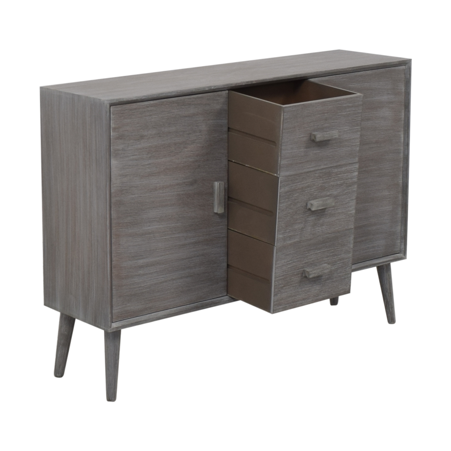 Grey Cabinet with Three Drawers discount