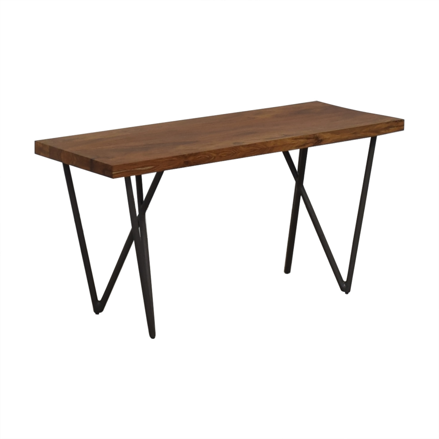 CB2  Wood and Green Bench sale