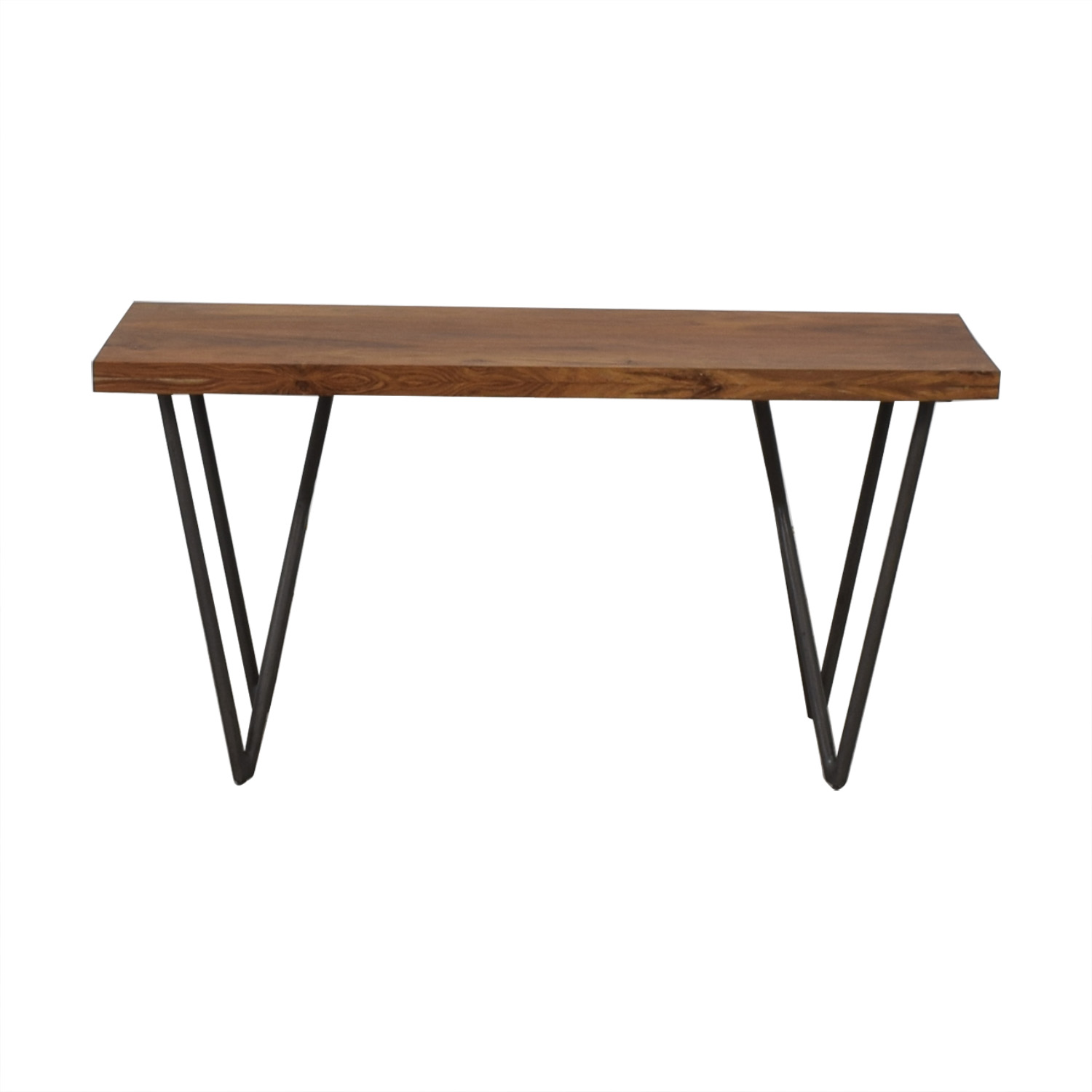 shop CB2  Wood and Green Bench CB2