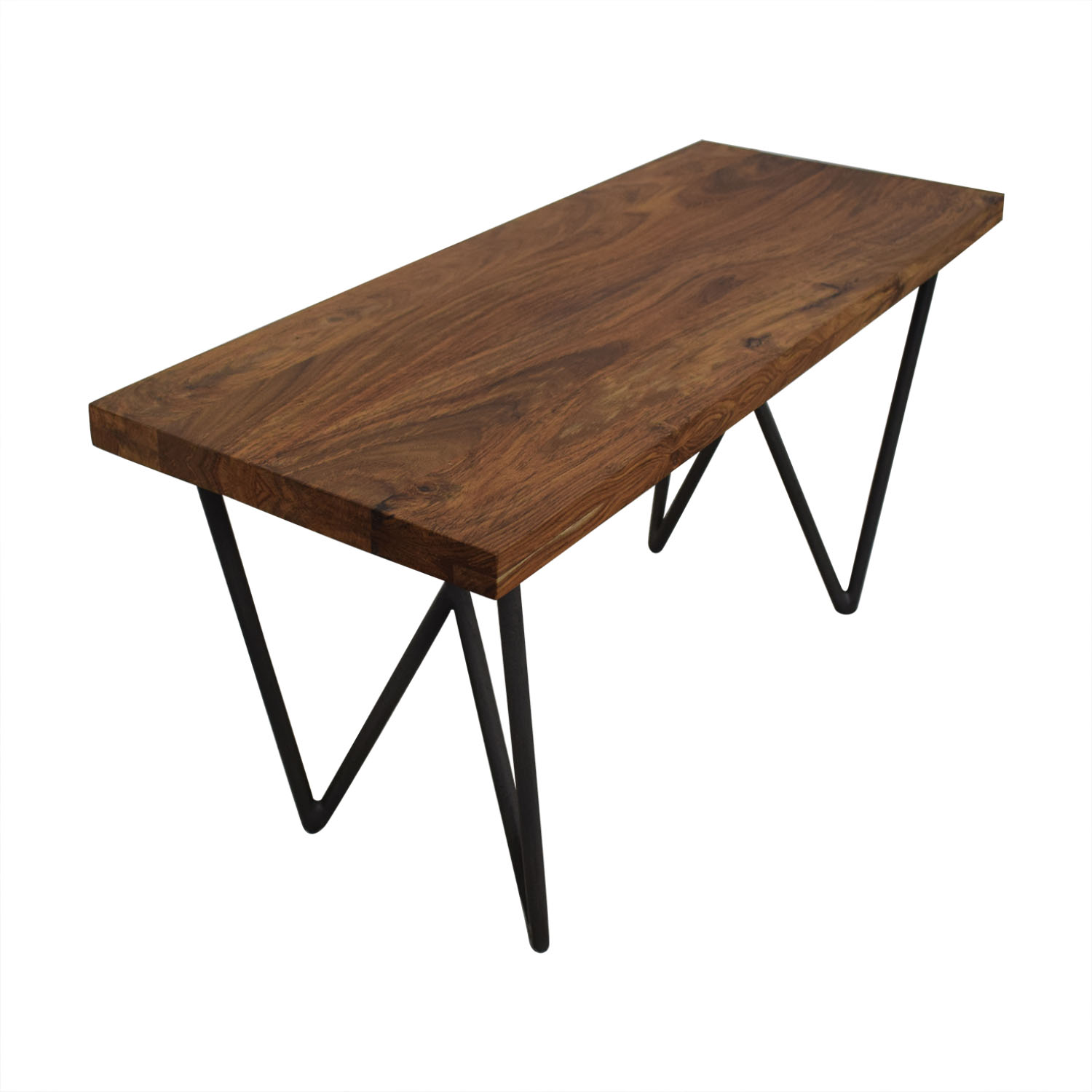 CB2  Wood and Green Bench / Chairs