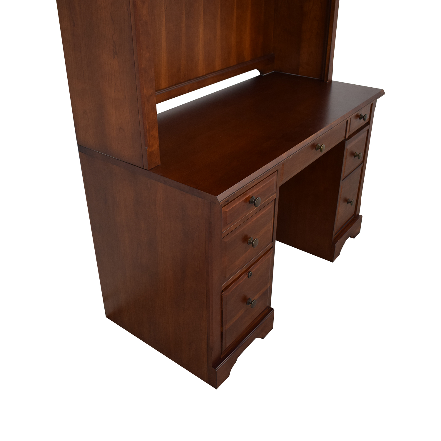 Wood Desk with Hutch dimensions