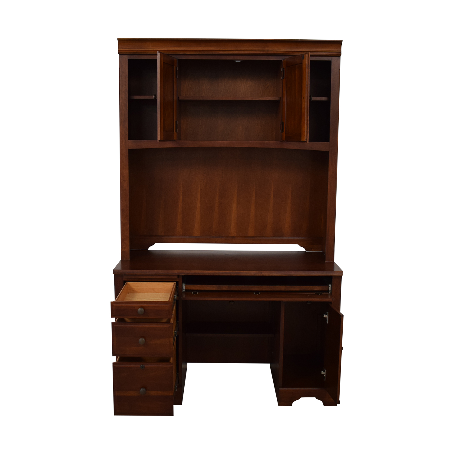 Wood Desk with Hutch / Home Office Desks
