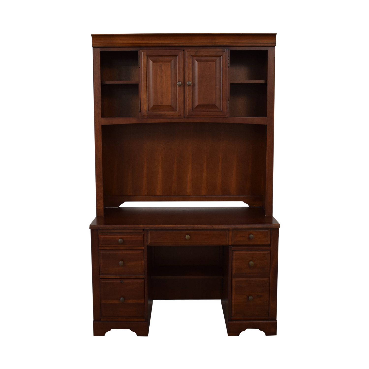 Wood Desk with Hutch Home Office Desks