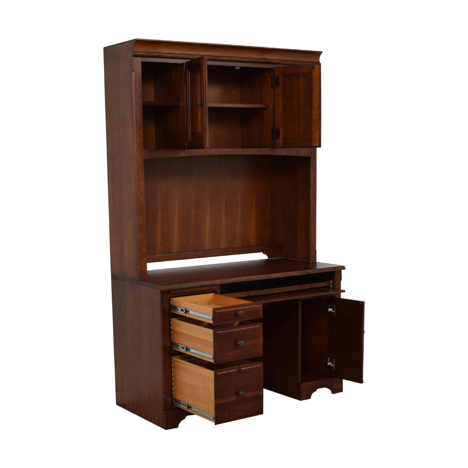 Wood Desk with Hutch nj