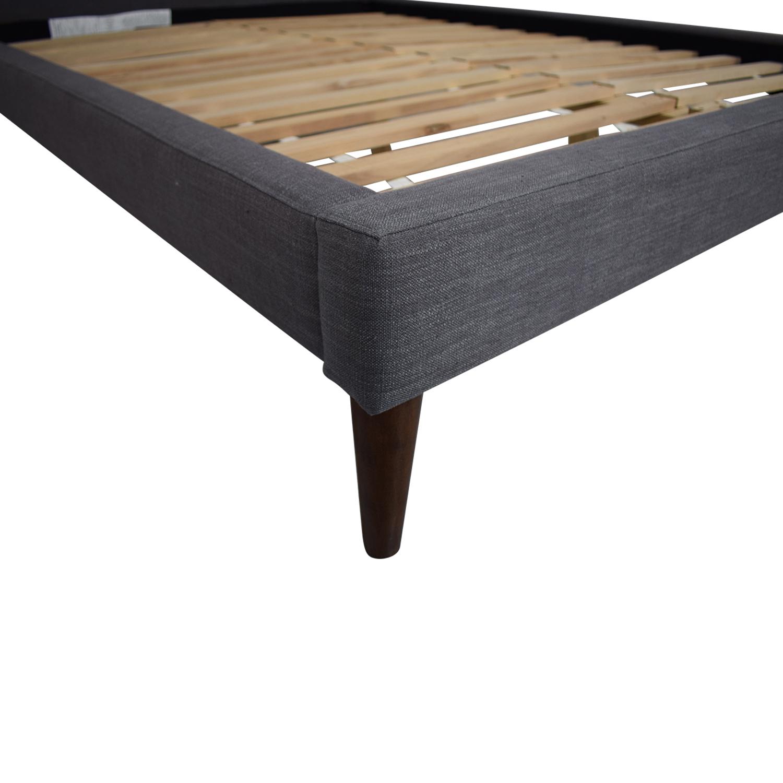 West Elm Grid Tufted Queen Bedframe / Bed Frames