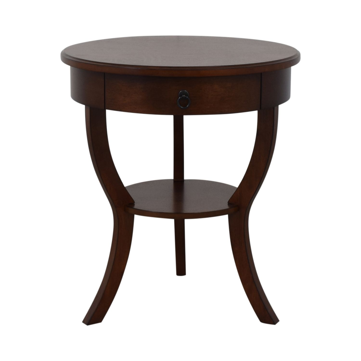 buy Pottery Barn Carrie Round Single-Drawer Pedestal End Table Pottery Barn Tables