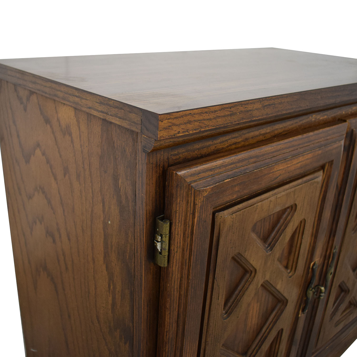 Wood Chest with Shelves