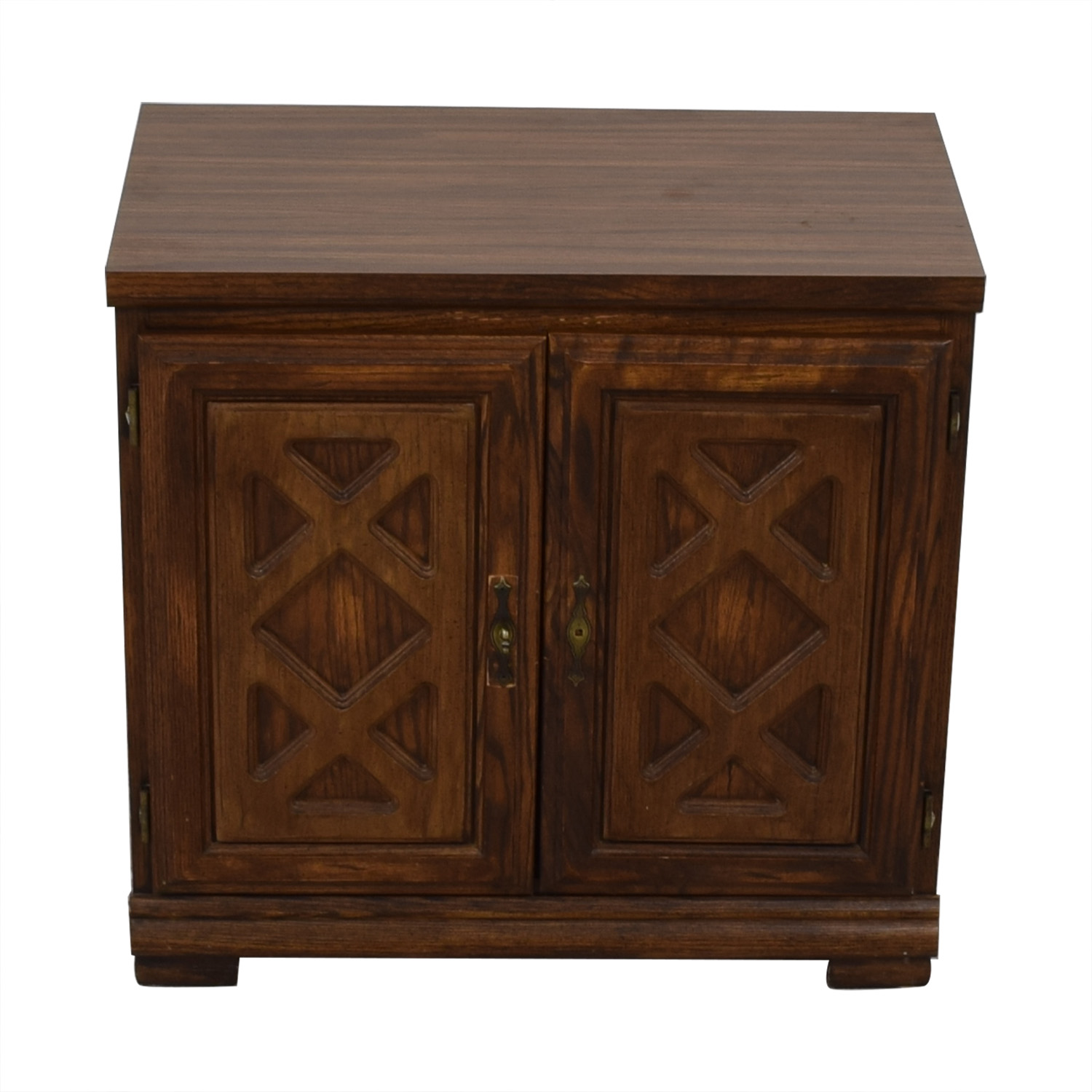 Wood Chest with Shelves / Storage