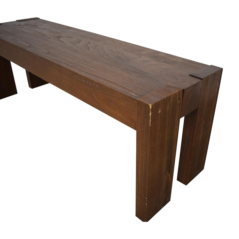 Fine 65 Off West Elm West Elm Wood Bench Chairs Cjindustries Chair Design For Home Cjindustriesco