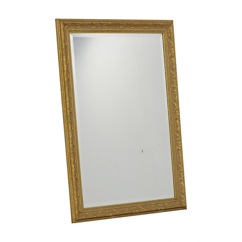 Randomlane Gold Bevel Mirror / Decor