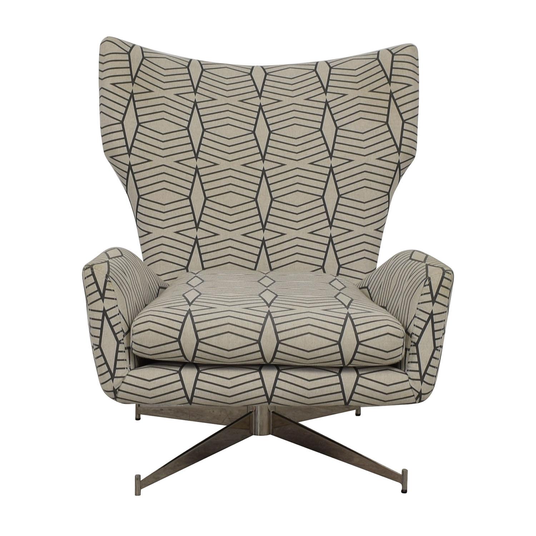 shop West Elm Swivel Armchair West Elm Accent Chairs