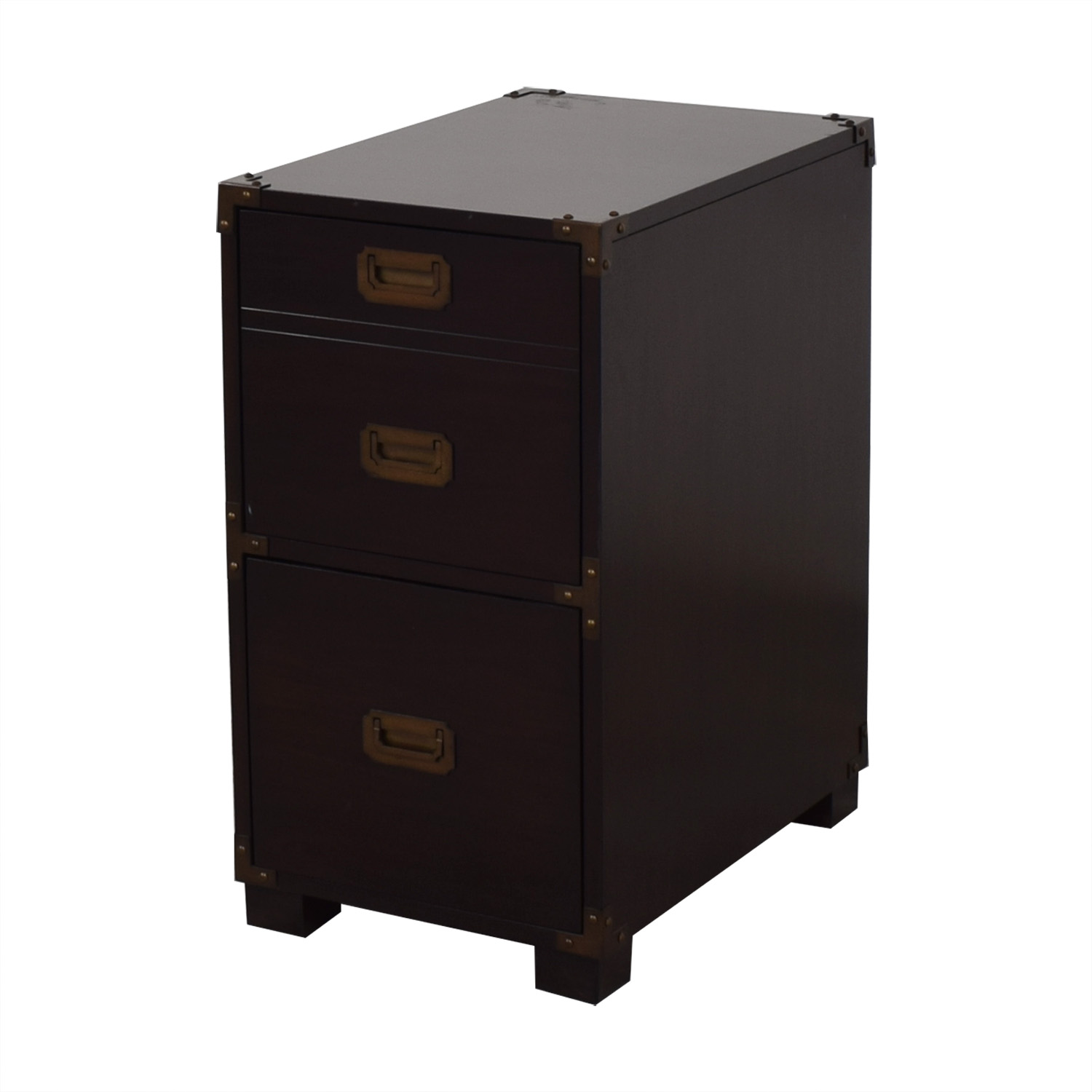 File Cabinet with Metal Accents Filing & Bins