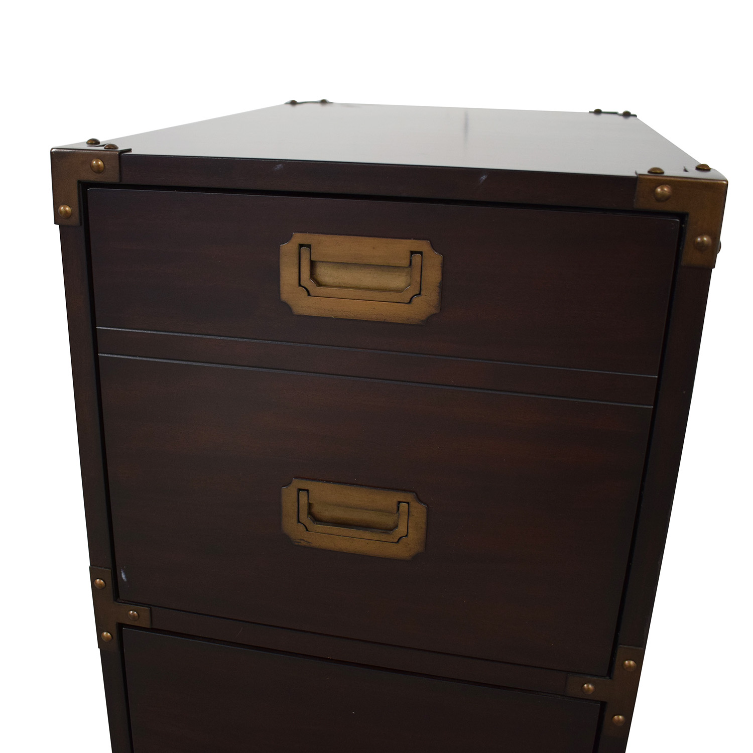 File Cabinet with Metal Accents / Filing & Bins
