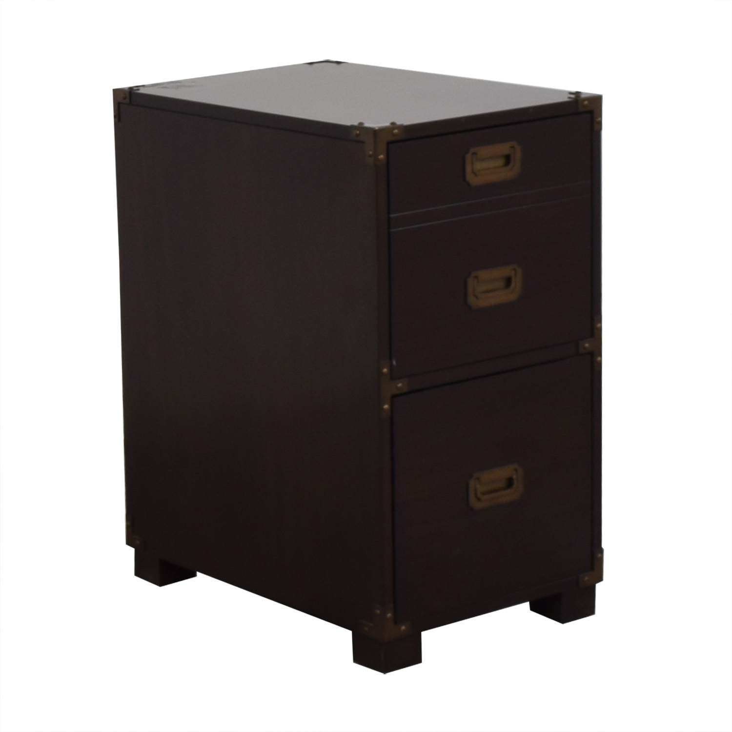 File Cabinet with Metal Accents discount