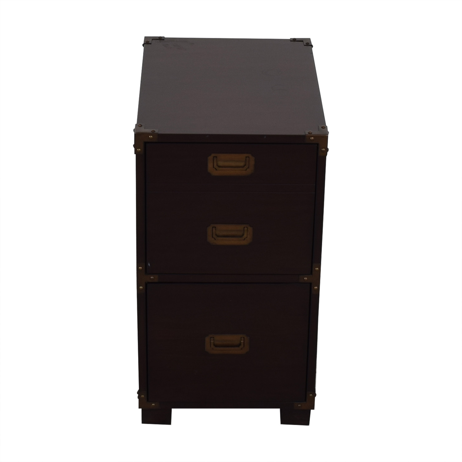 File Cabinet with Metal Accents dimensions