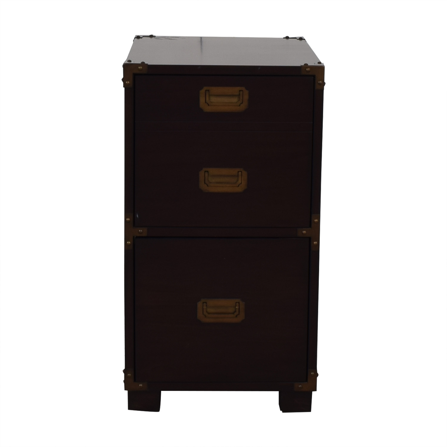 File Cabinet with Metal Accents nyc