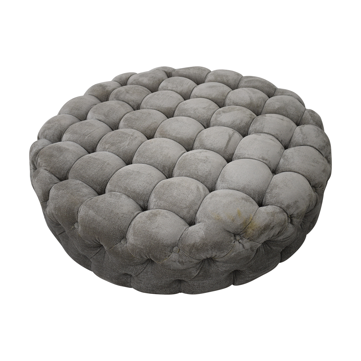 Round Tufted Ottoman or Coffee Table nj