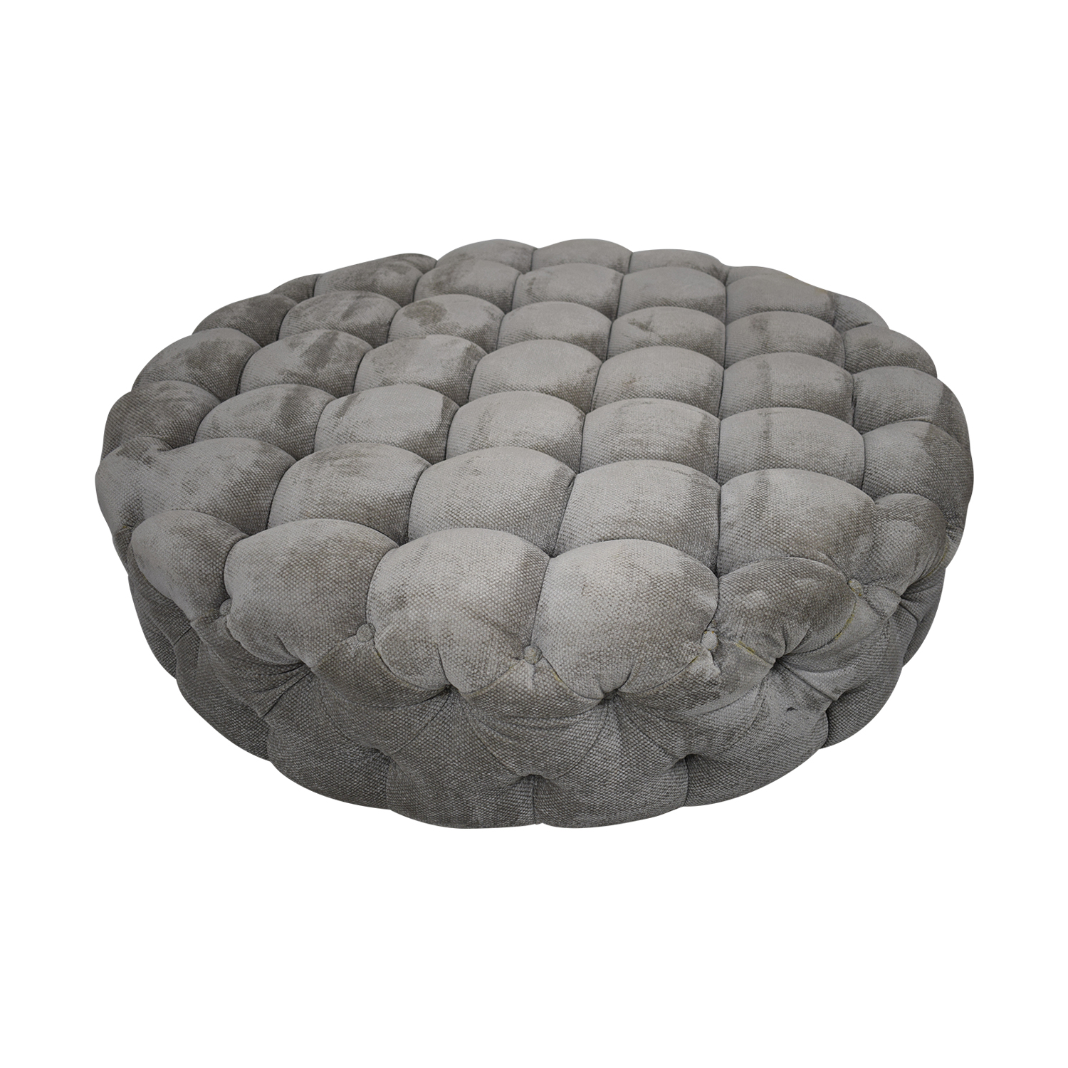 shop Round Tufted Ottoman or Coffee Table  Chairs