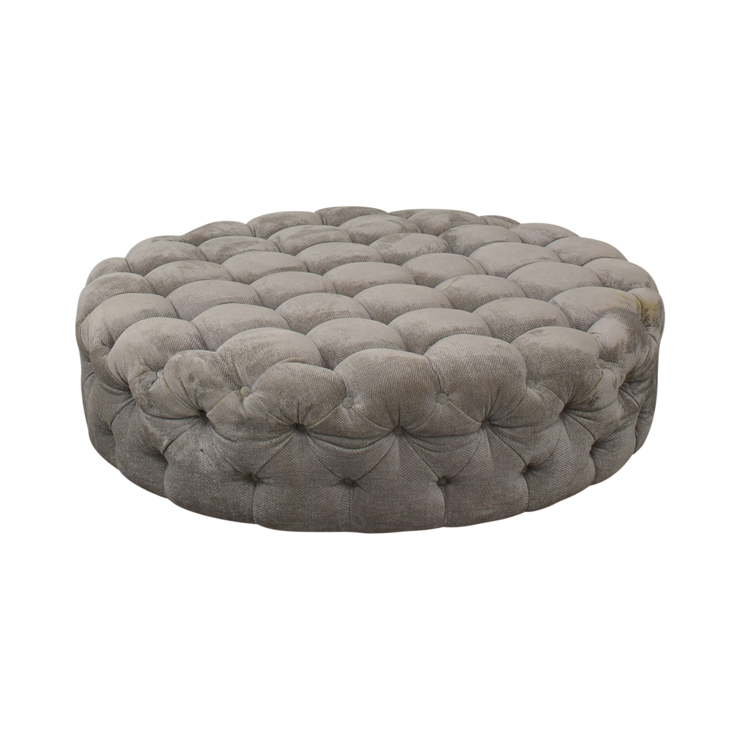 shop Round Tufted Ottoman or Coffee Table