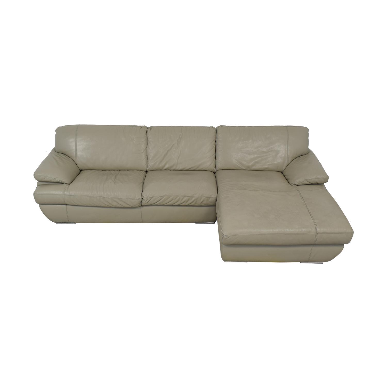Bloomingdale's Bloomingdale's Gray Leather Sofa coupon