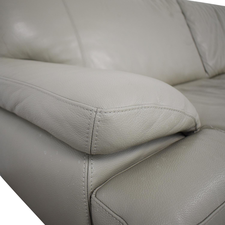 Bloomingdale's Bloomingdale's Gray Leather Sofa price