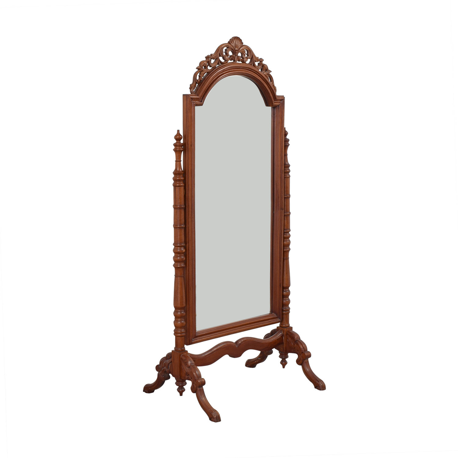 Carved Wooden Standing Mirror nyc