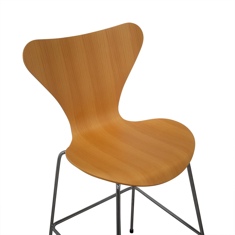 buy Fritz Hansen Fritz Hansen Arne Jacobsen Series 7 Barstools online