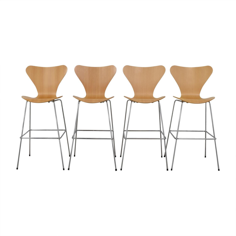 shop Fritz Hansen Fritz Hansen Arne Jacobsen Series 7 Barstools online