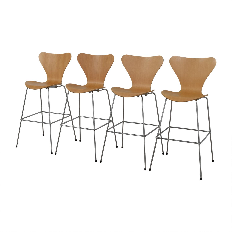 Fritz Hansen Arne Jacobsen Series 7 Barstools / Stools