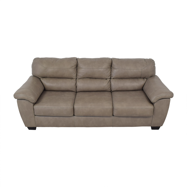 Exceptionnel 70% OFF   Jennifer Furniture Jennifer Furniture Vegan Leather Couch / Sofas