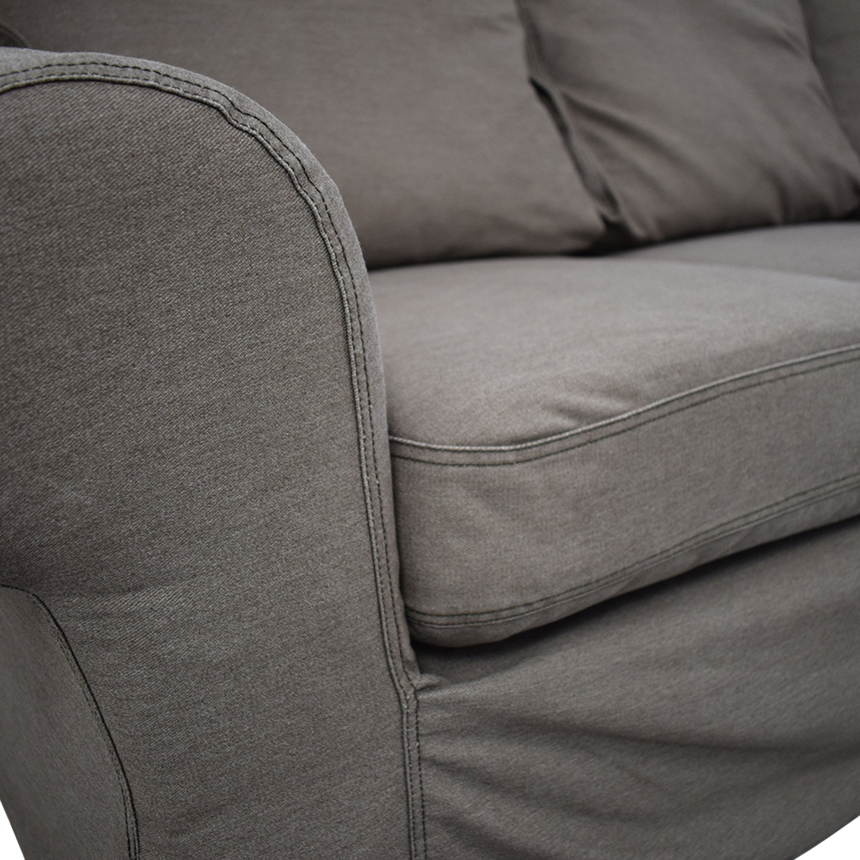 Groovy 85 Off Ikea Ikea Ektorp Brown Couch And Ottoman Sofas Uwap Interior Chair Design Uwaporg