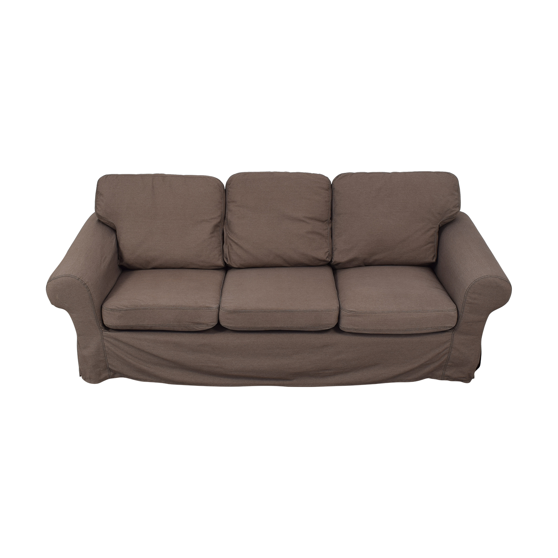 shop IKEA Ektorp Brown Couch and Ottoman IKEA