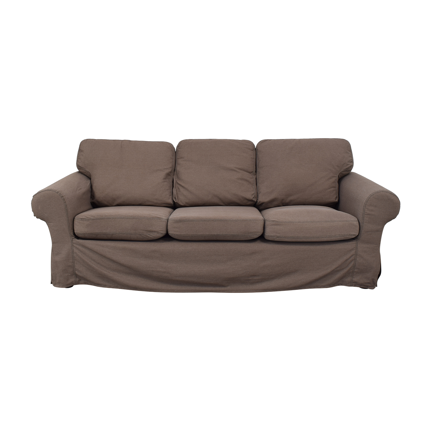 buy IKEA Ektorp Brown Couch and Ottoman IKEA Classic Sofas