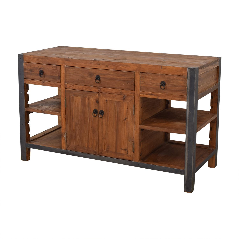 73% OFF - Overstock Overstock Kosas Home Portable Kitchen Island / Storage
