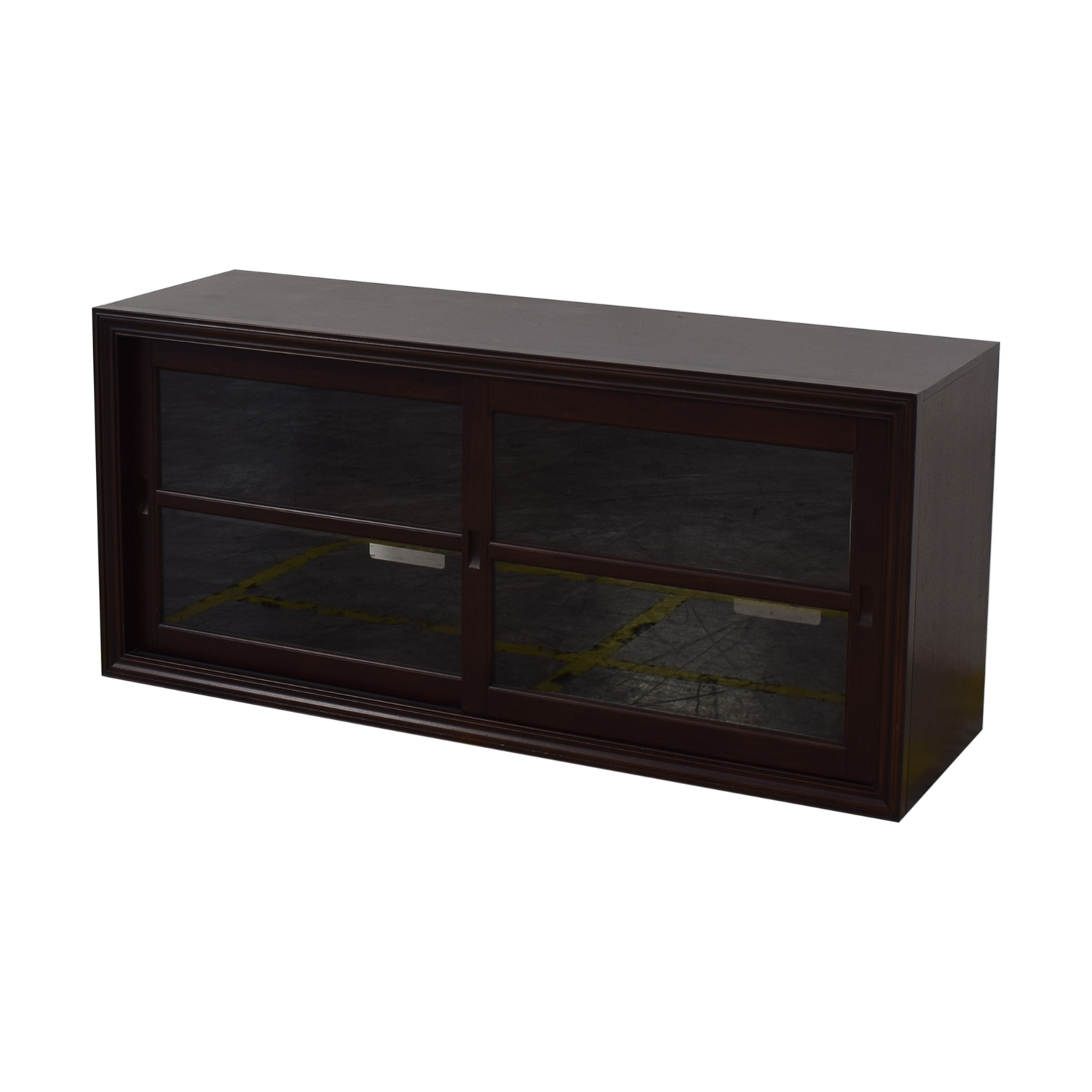 Outstanding 78 Off Pottery Barn Pottery Barn Winslow Glass Door Media Stand Storage Home Interior And Landscaping Ferensignezvosmurscom