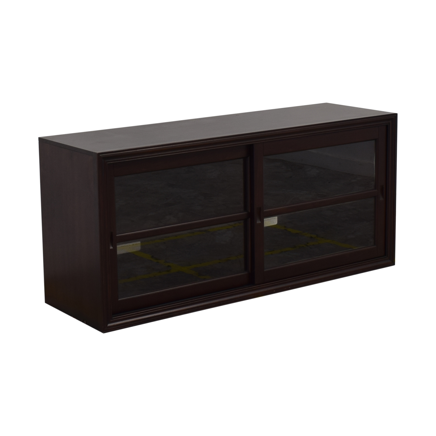 Enjoyable 78 Off Pottery Barn Pottery Barn Winslow Glass Door Media Stand Storage Home Interior And Landscaping Ferensignezvosmurscom