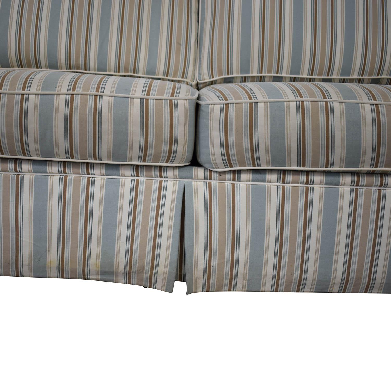 shop Alan White Striped Sofa Alan White Classic Sofas