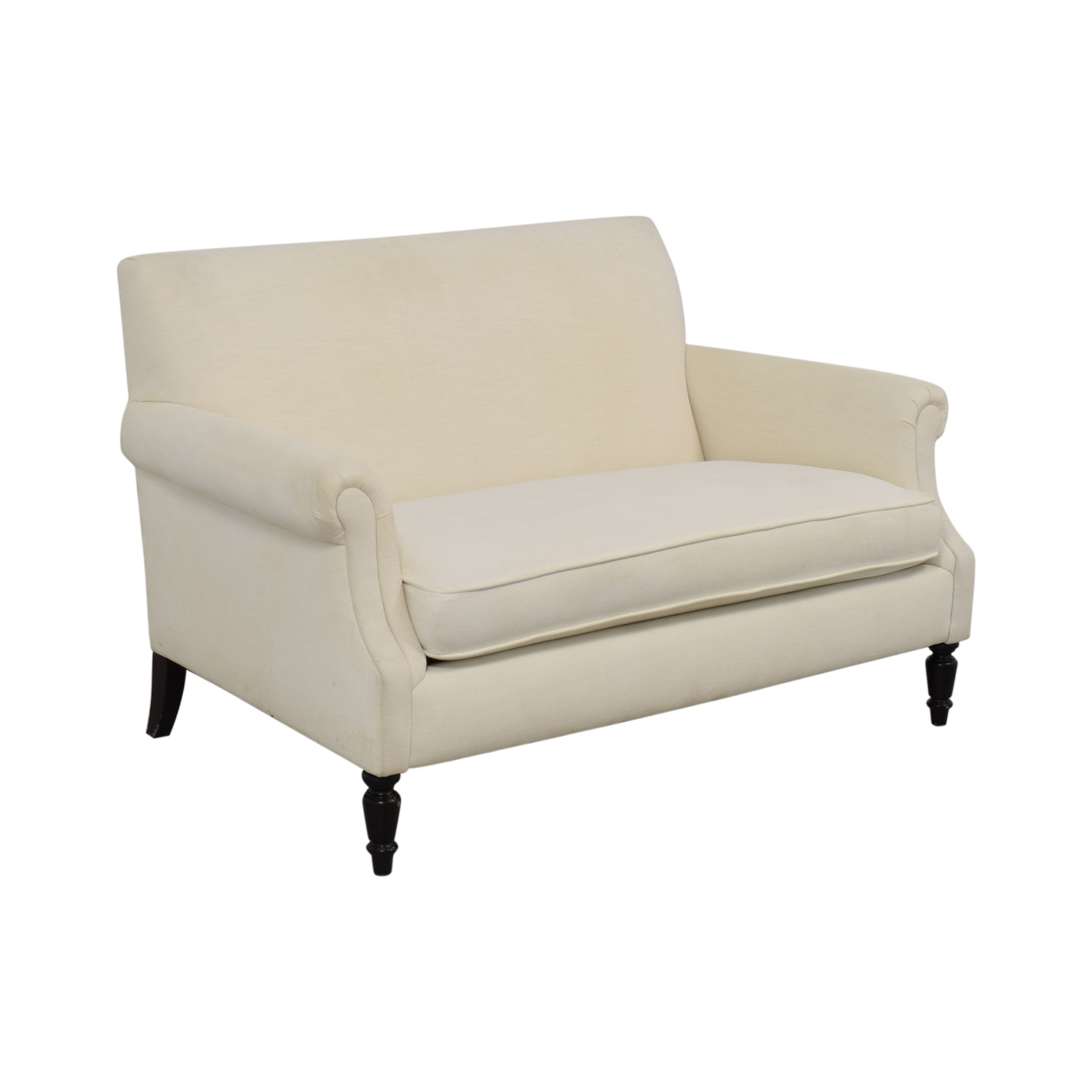Crate & Barrel Roll Arm Loveseat / Sofas