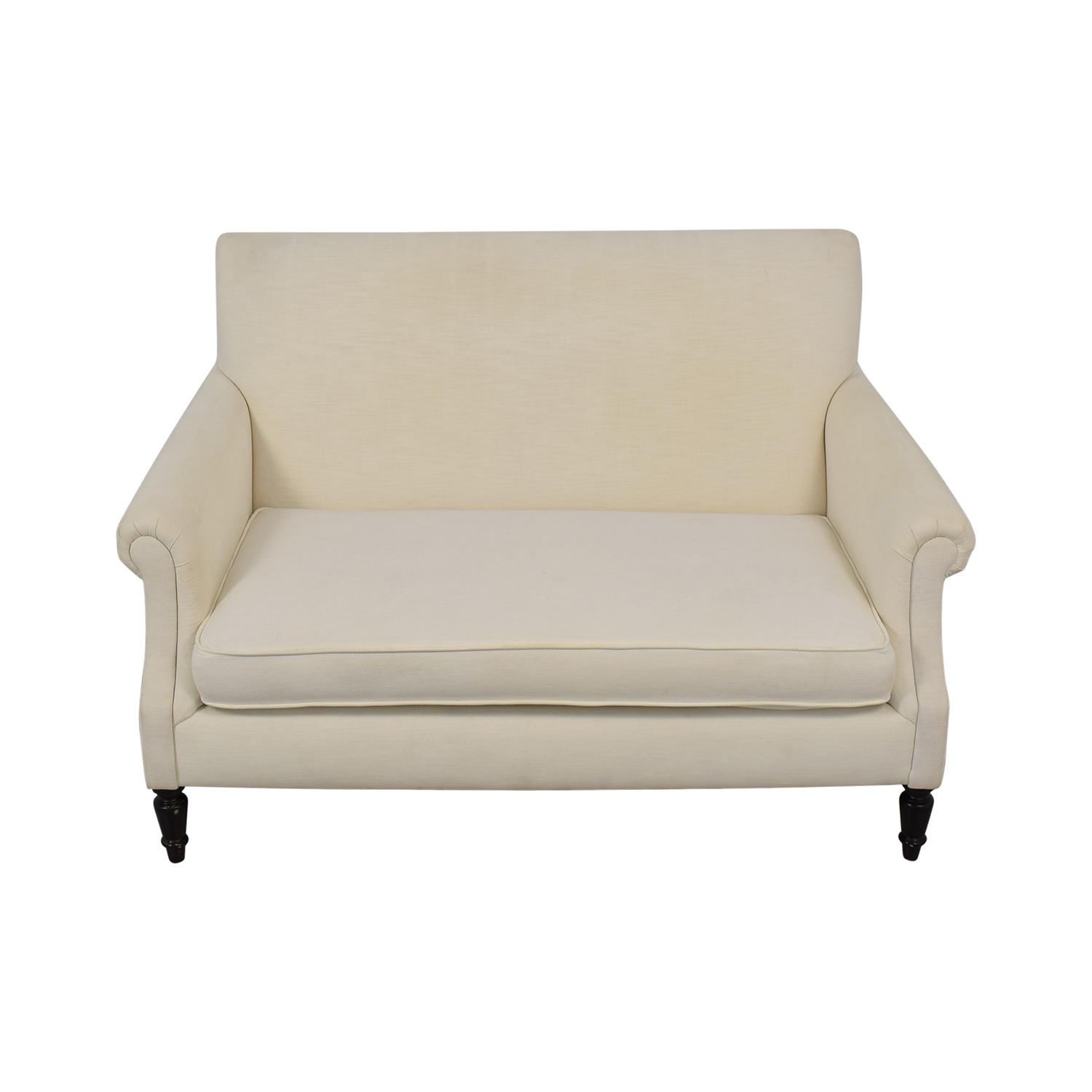 Crate & Barrel Roll Arm Loveseat / Loveseats