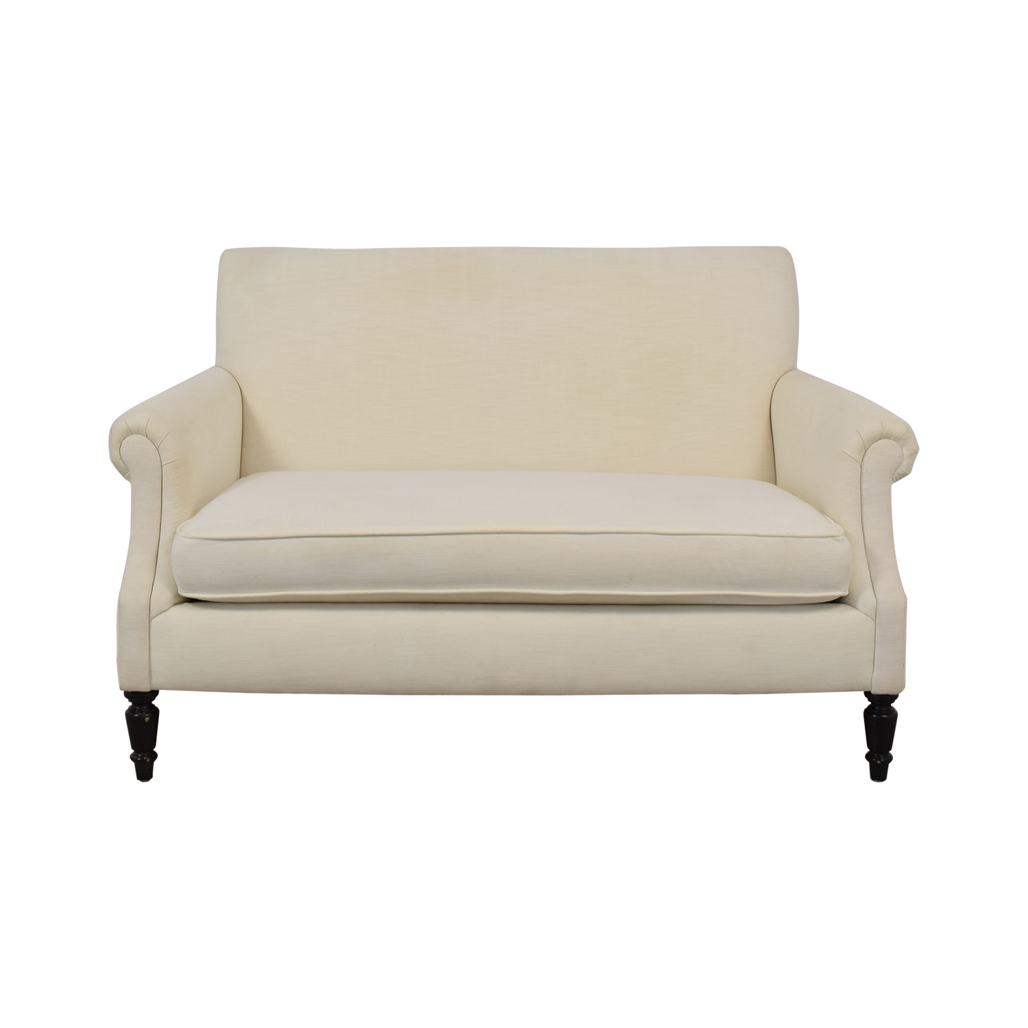 Crate & Barrel Roll Arm Loveseat sale