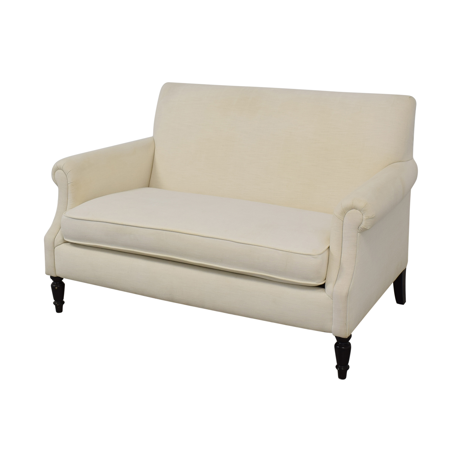 Crate & Barrel Crate & Barrel Roll Arm Loveseat for sale