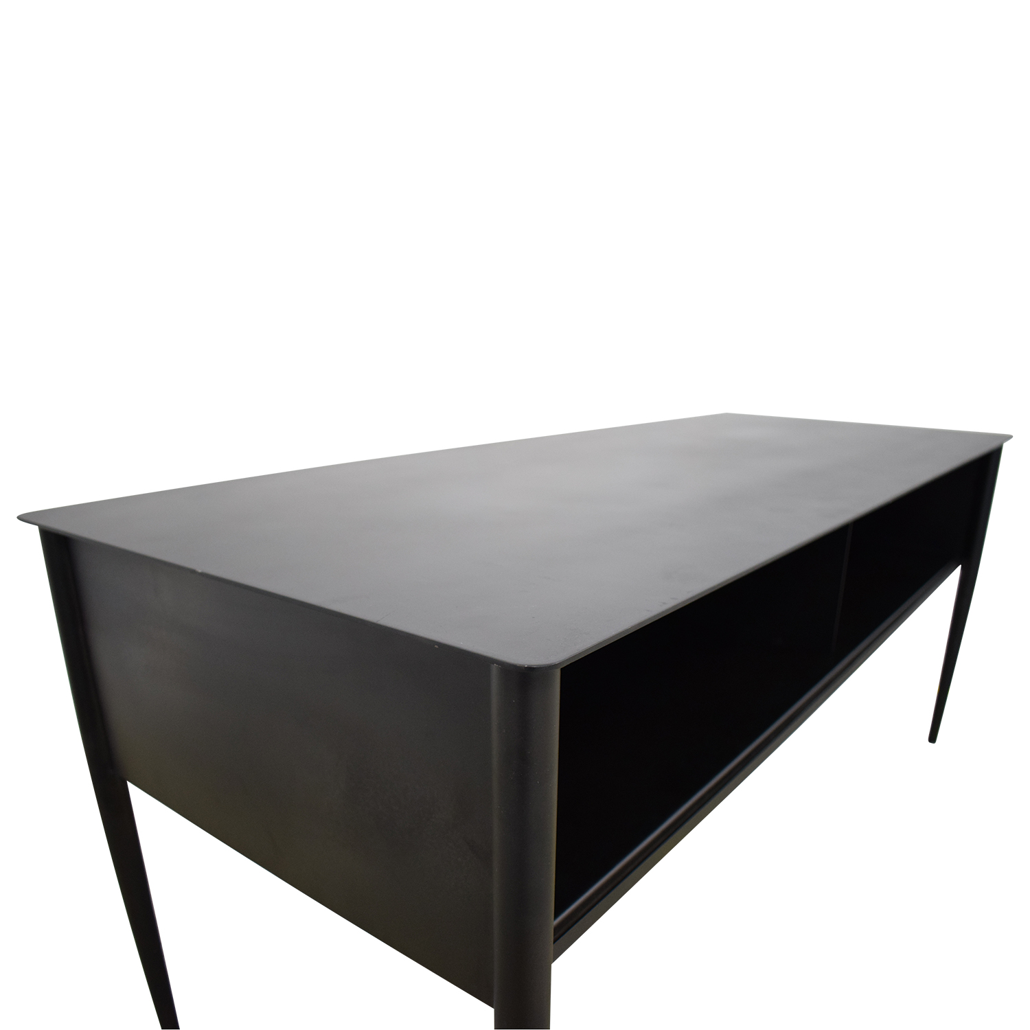 West Elm West Elm Metalwork Hot Rolled Steel Media Console dimensions