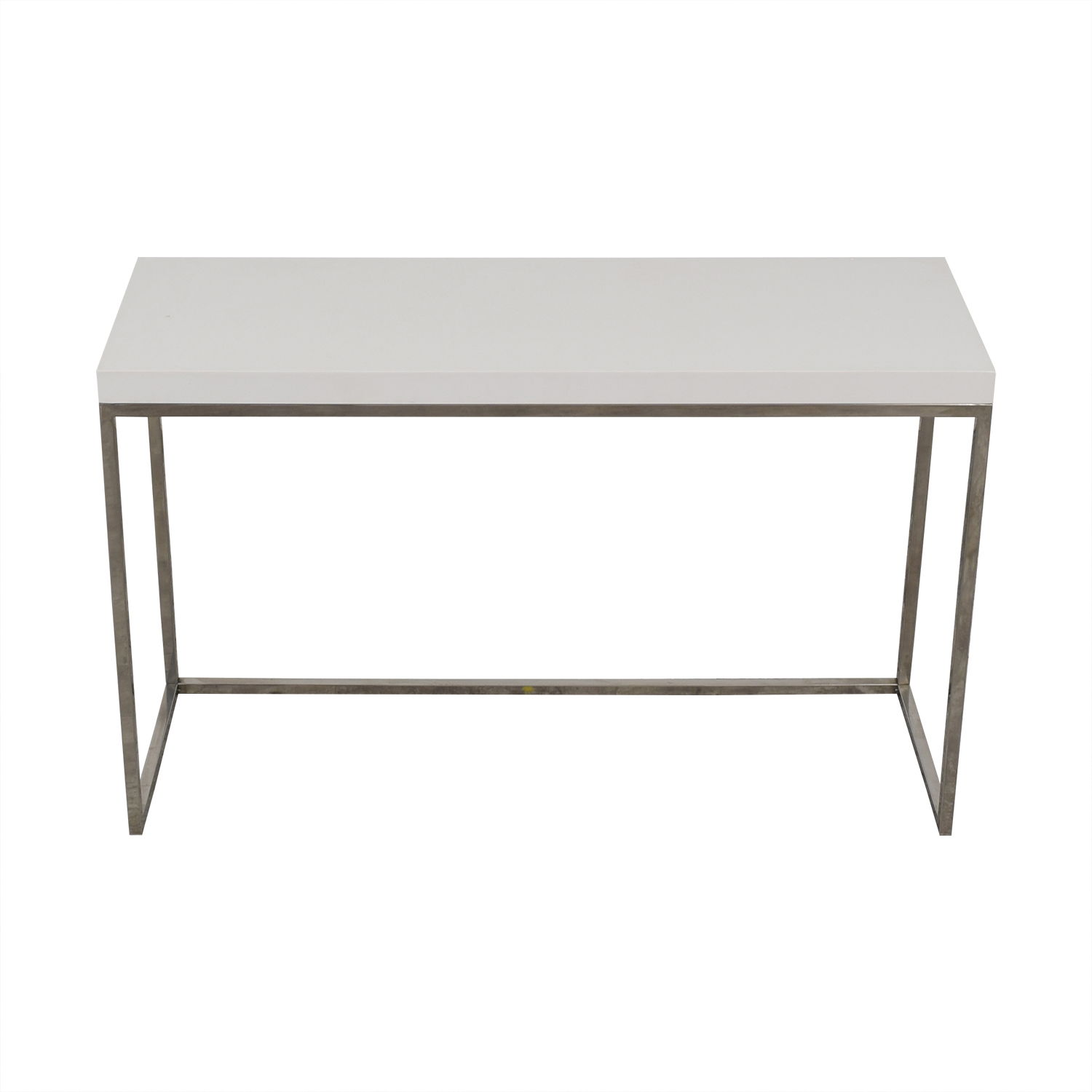 White and Metal Console Table second hand