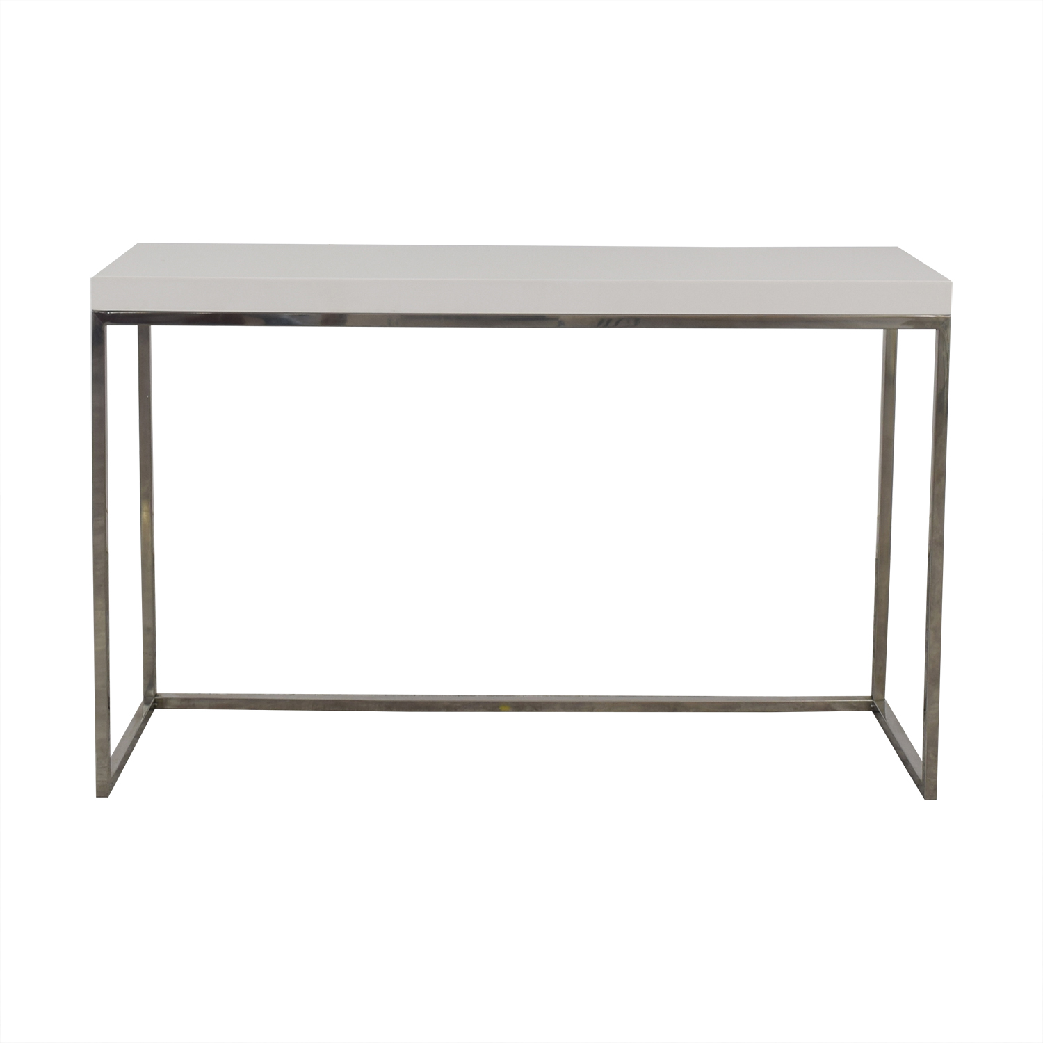 buy White and Metal Console Table