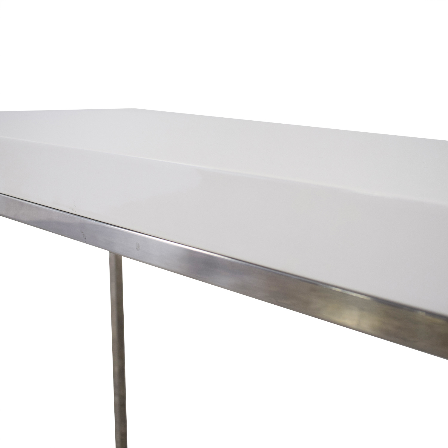 White and Metal Console Table price