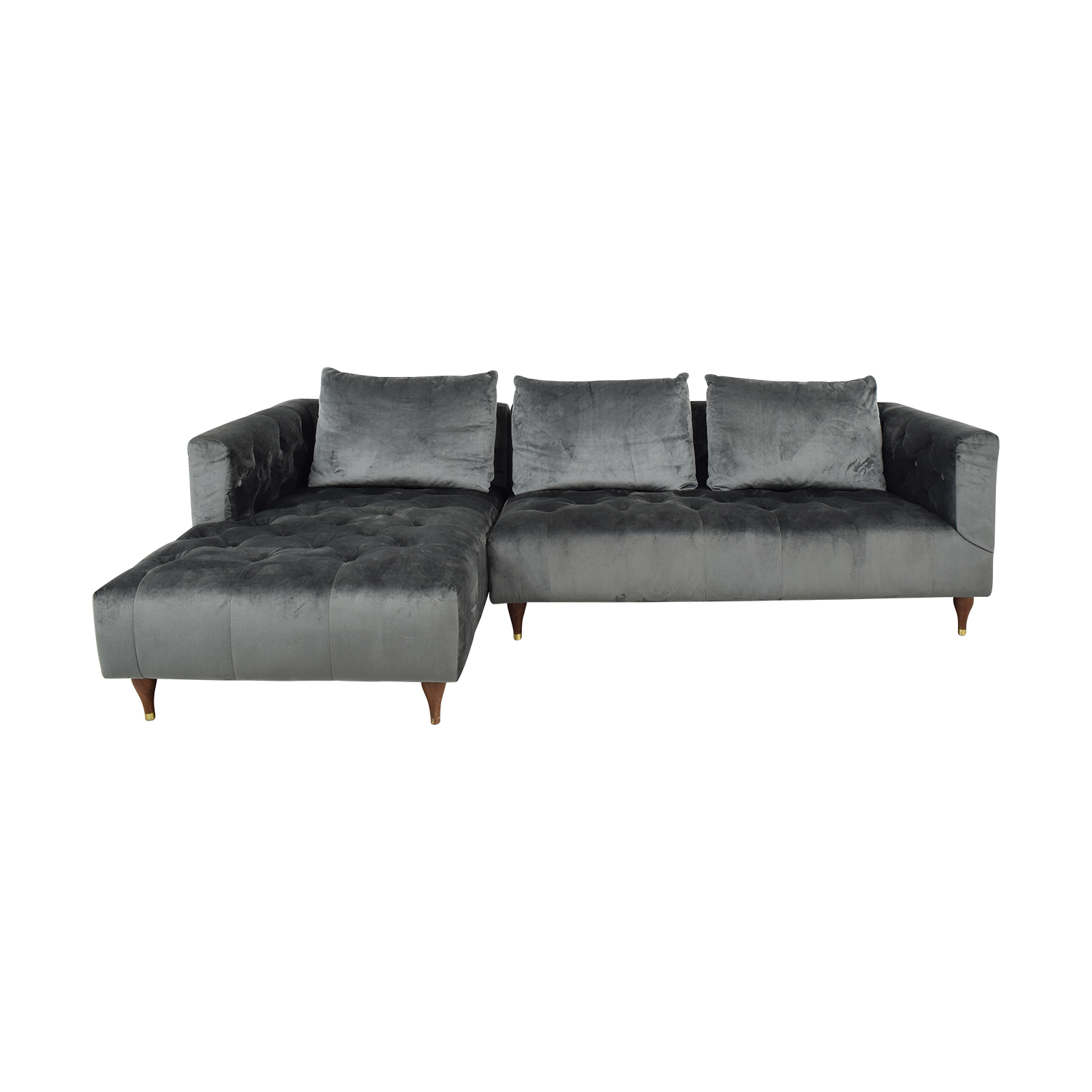 buy Ms. Chesterfield Sectional Sofa with Left Chaise Interior Define Sectionals