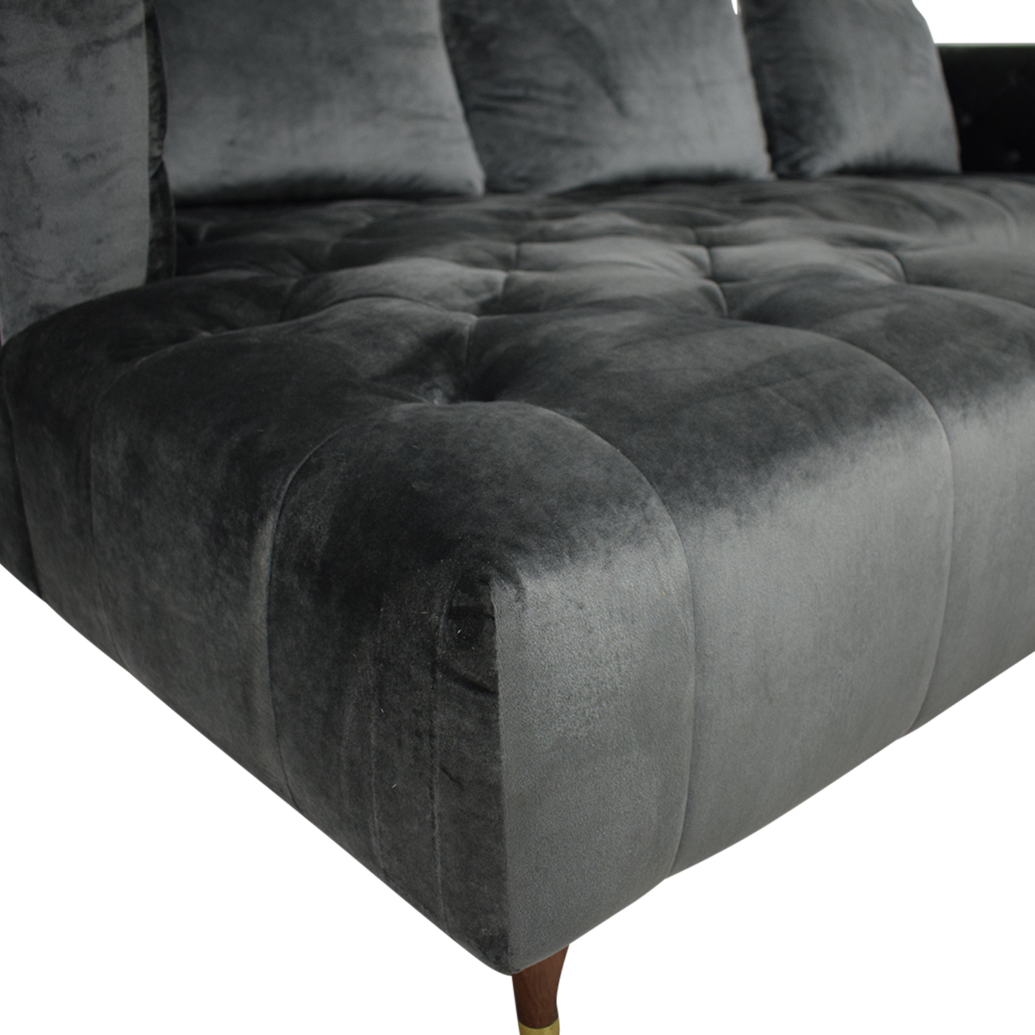 Interior Define Ms. Chesterfield Sectional Sofa with Left Chaise Sofas
