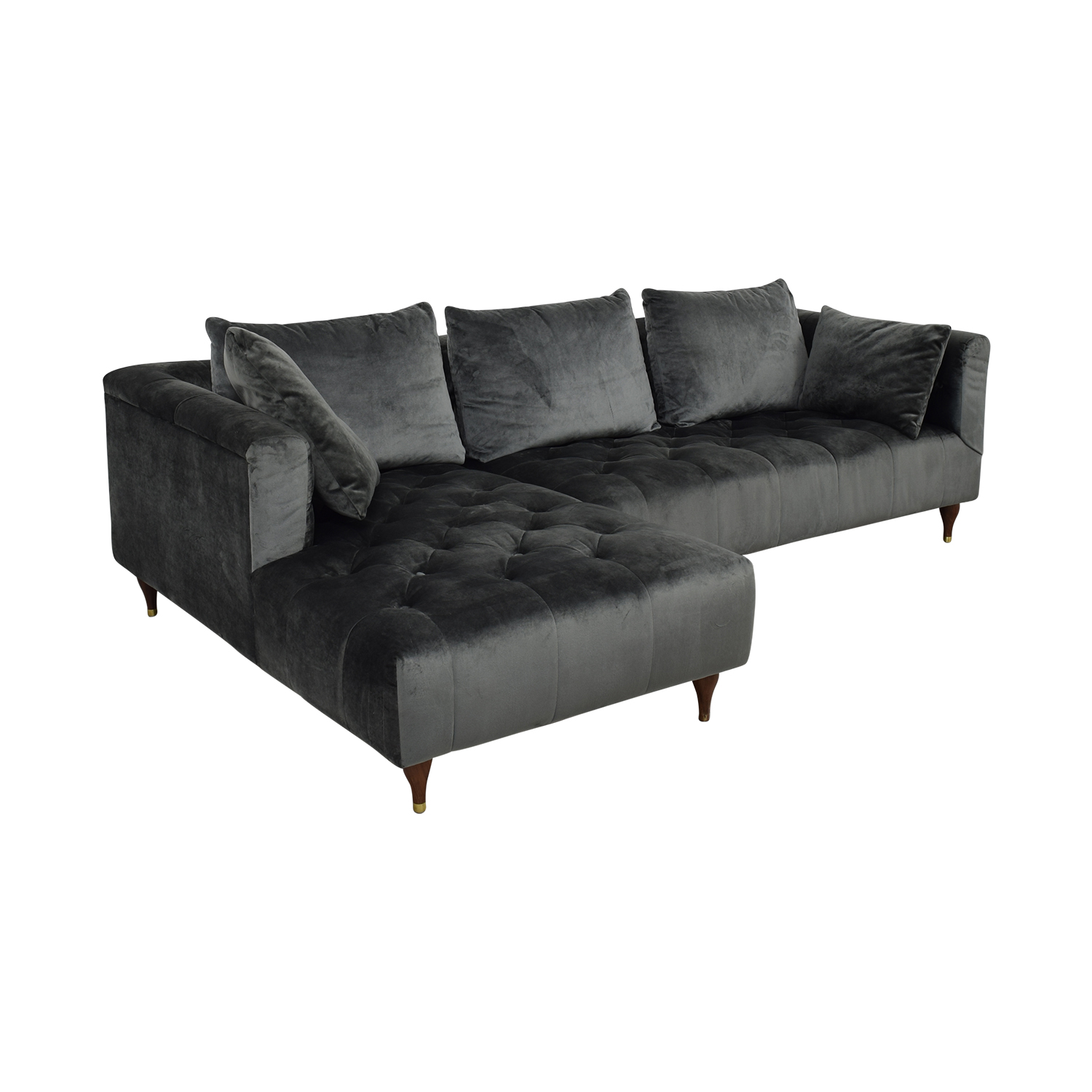 shop Ms. Chesterfield Sectional Sofa with Left Chaise Interior Define Sofas