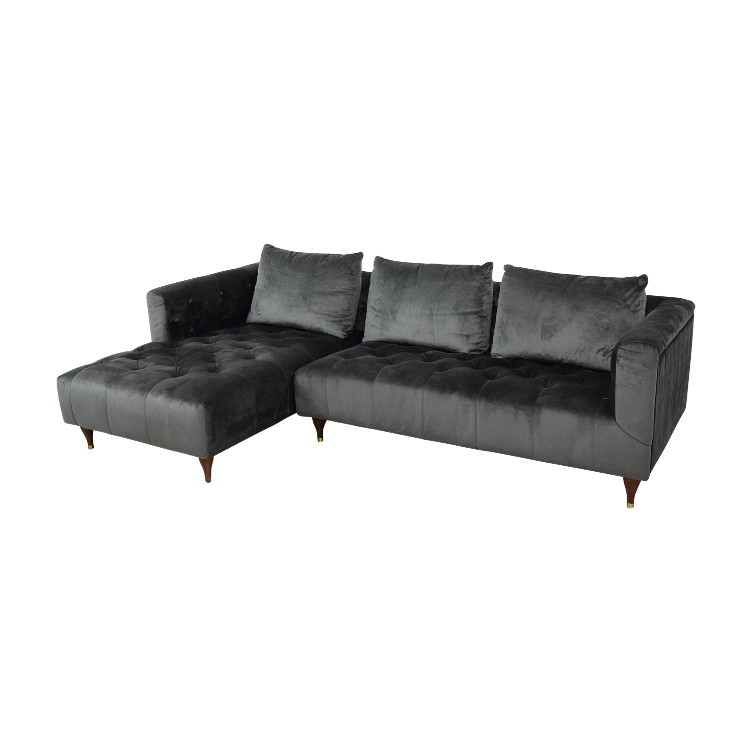 Interior Define Ms. Chesterfield Sectional Sofa with Left Chaise nyc